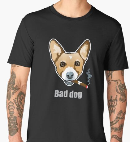 Bad Dog Smoking Cigar Men's Premium T-Shirt