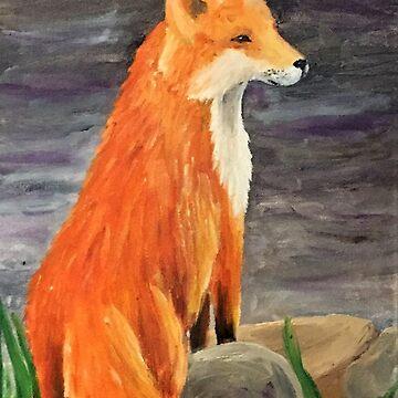 Orange Fox by Creatividad
