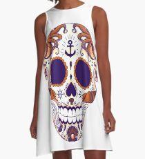 Sea skull colored A-Line Dress
