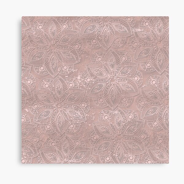 Mandala Rosegold Canvas Print