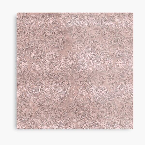 Mandala Rosegold Metal Print