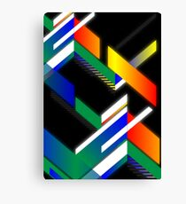 Retro square design Canvas Print