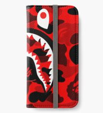 red bape fres iPhone Wallet/Case/Skin
