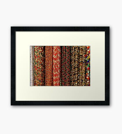 Colourful Chains Framed Print
