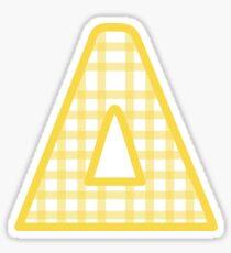 Gelbes Gingham Delta Sticker