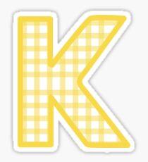 gelber Gingham Kappa Sticker