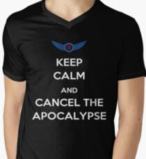 Keep Calm And Cancel The Apocalypse Men's V-Neck T-Shirt