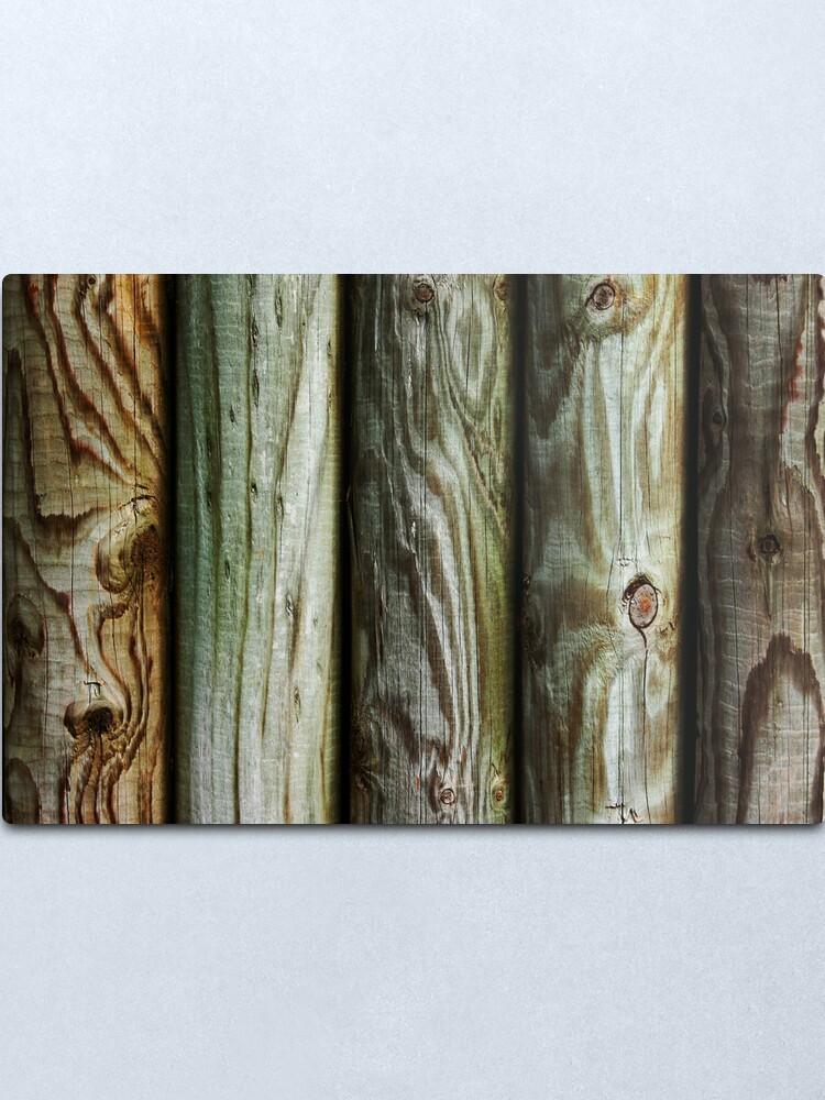 Alternate view of Wooden Metal Print