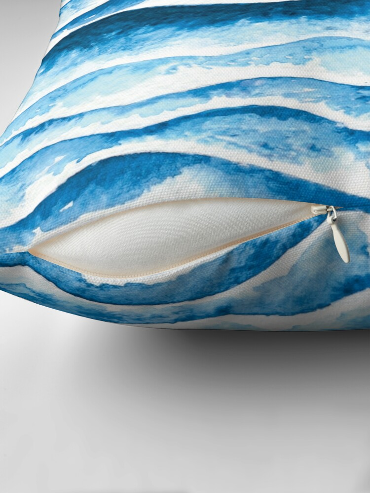 Alternate view of Beach waves Throw Pillow