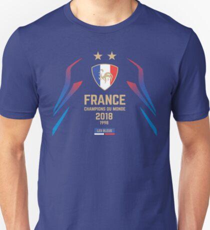 France Champion Du Monde 2018 • Les Bleus • Football World Cup Champion 2018 ID 1-3 T-Shirt