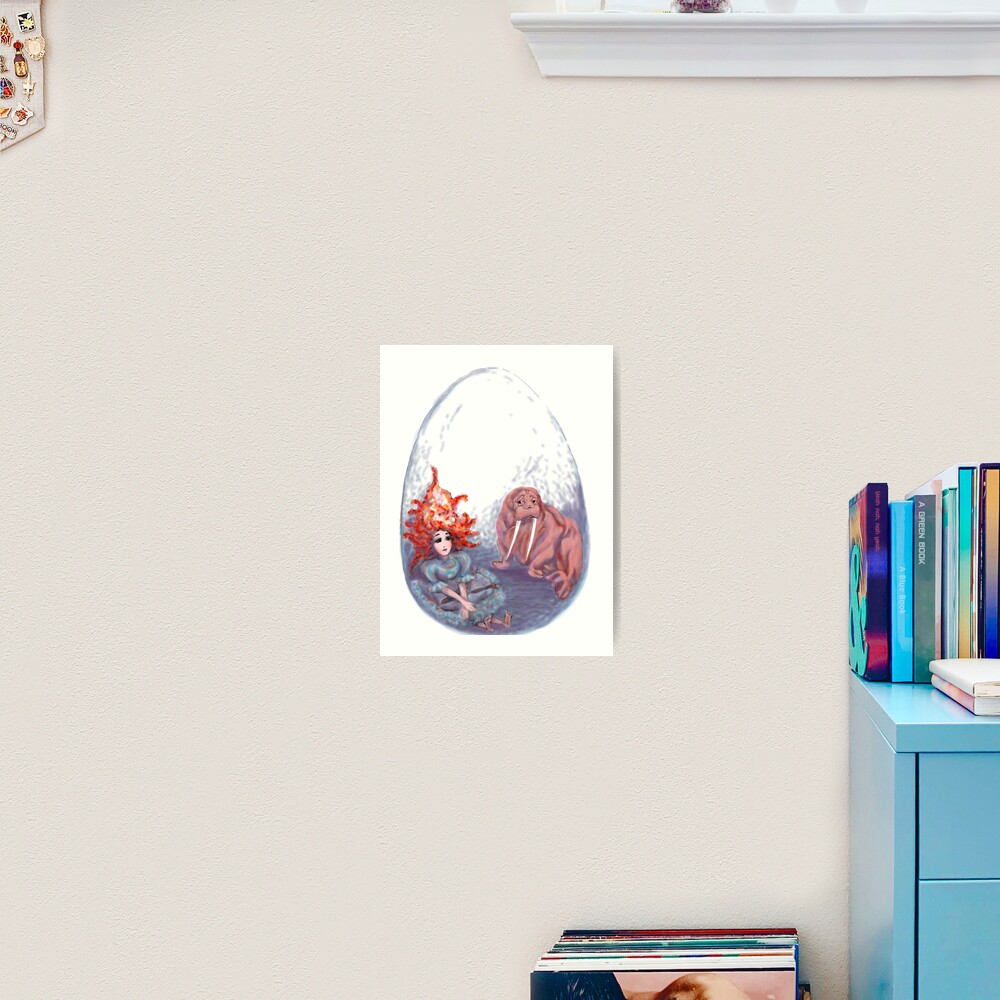 The Muse & The Walrus Art Print