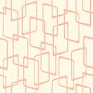 Reverse Blush Retro Geometric Pattern by itsjensworld