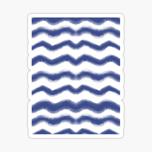 Shibori Waves #redbubble #shibori Sticker