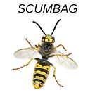 'SCUMBAG' Wasp Insect Insult Graphic by lucykateburton