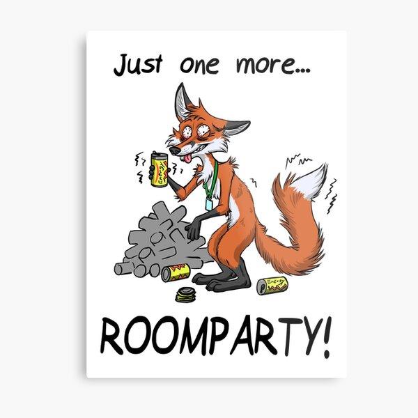 Roomparty - Fuchs Metallbild