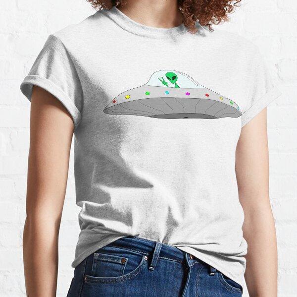 flying saucer peace alien Classic T-Shirt