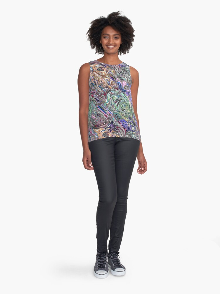 Alternate view of Abstract Melted Colors Sleeveless Top