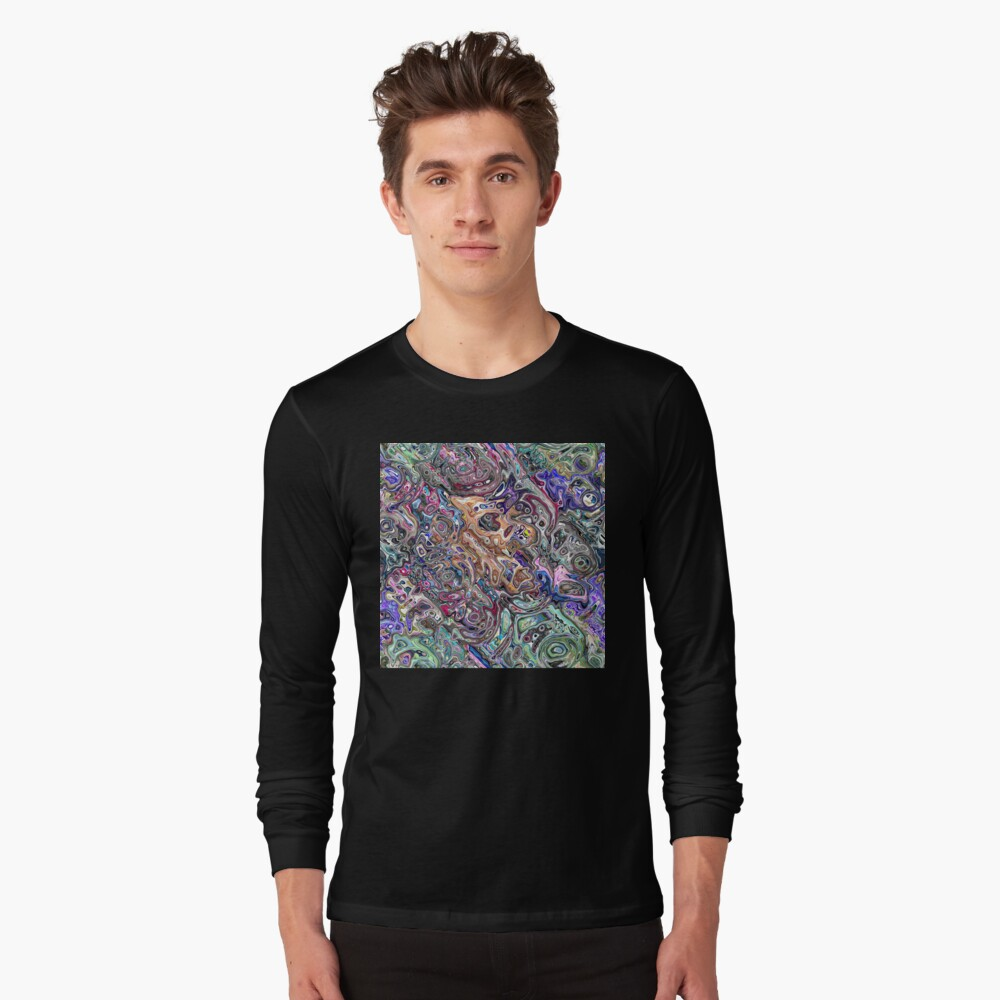 Abstract Melted Colors Long Sleeve T-Shirt