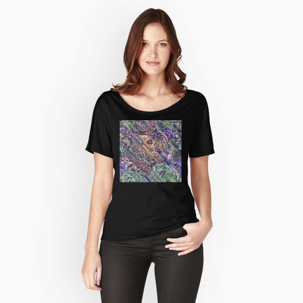 Abstract Melted Colors Relaxed Fit T-Shirt