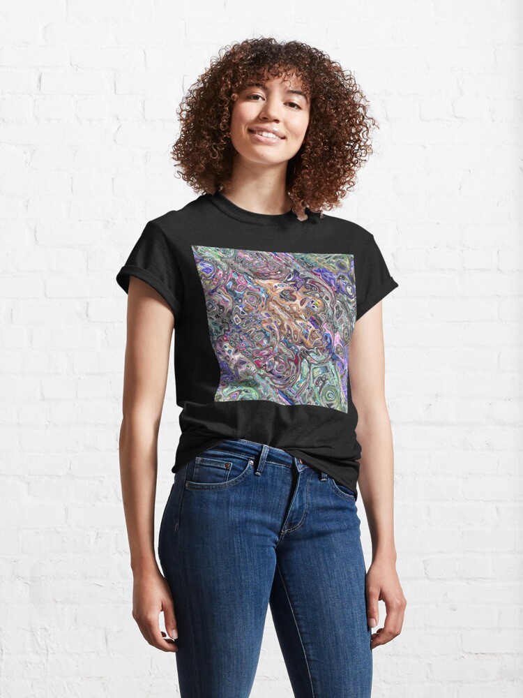 Alternate view of Abstract Melted Colors Classic T-Shirt