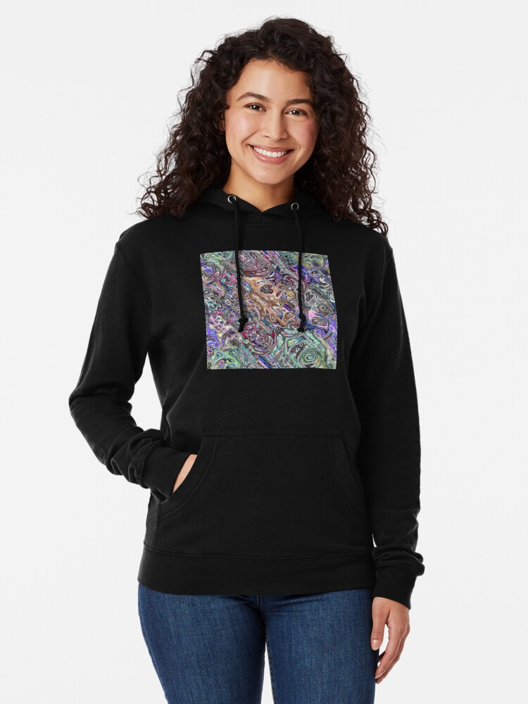 Alternate view of Abstract Melted Colors Lightweight Hoodie