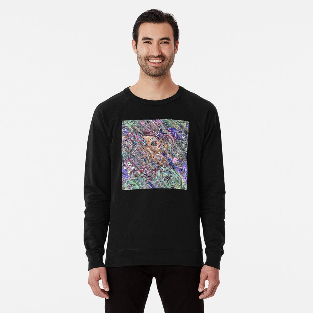 Abstract Melted Colors Lightweight Sweatshirt
