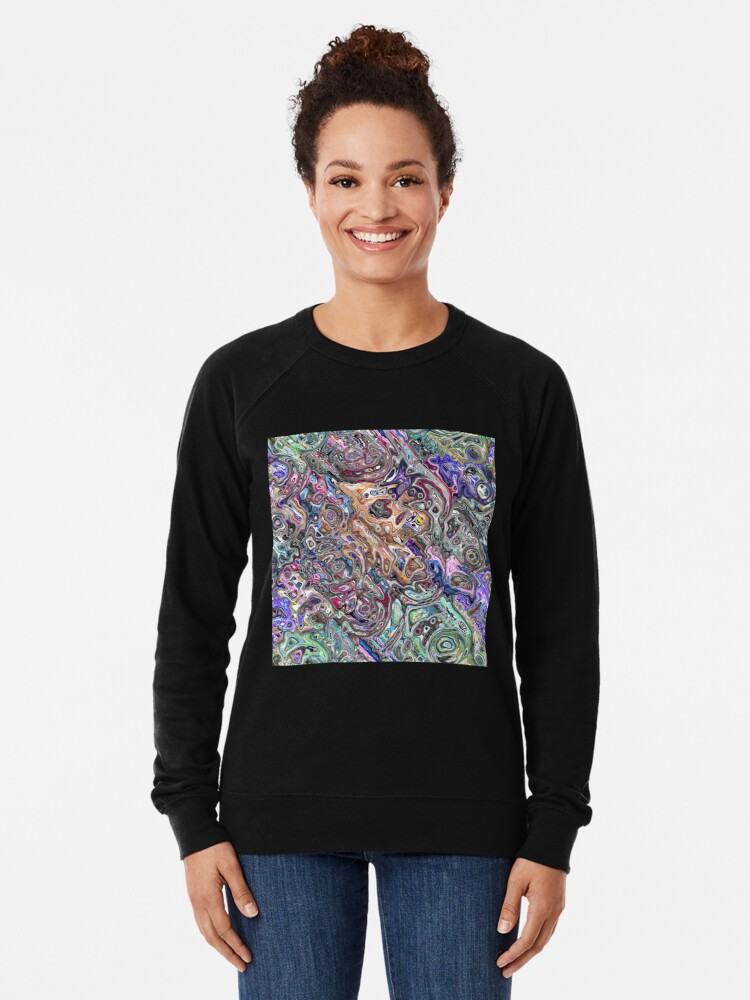 Alternate view of Abstract Melted Colors Lightweight Sweatshirt