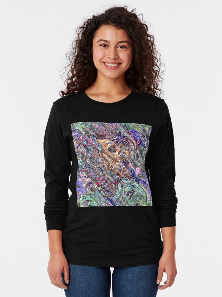 Alternate view of Abstract Melted Colors Long Sleeve T-Shirt
