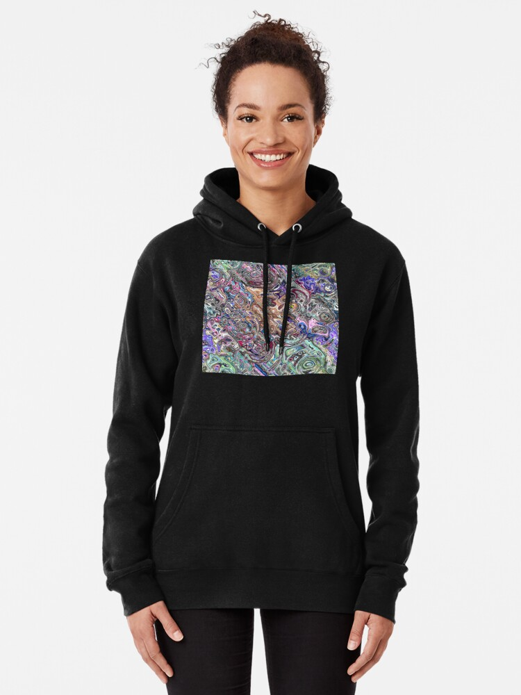 Alternate view of Abstract Melted Colors Pullover Hoodie