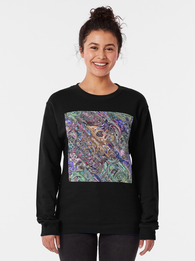Alternate view of Abstract Melted Colors Pullover Sweatshirt
