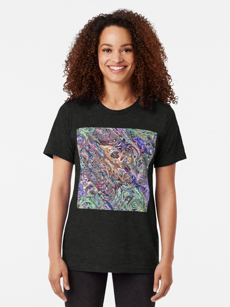 Alternate view of Abstract Melted Colors Tri-blend T-Shirt