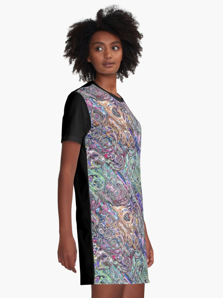 Alternate view of Abstract Melted Colors Graphic T-Shirt Dress