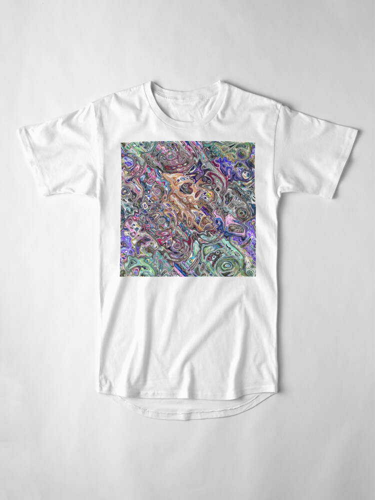 Alternate view of Abstract Melted Colors Long T-Shirt