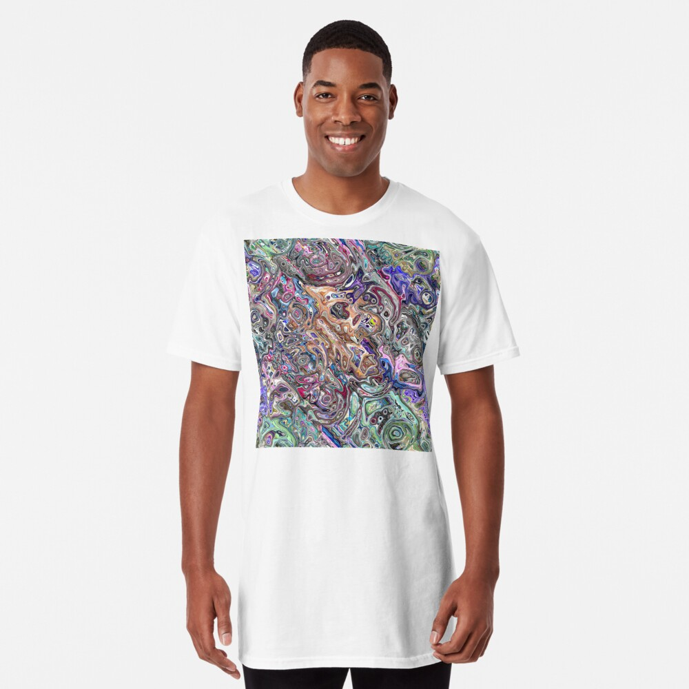 Abstract Melted Colors Long T-Shirt