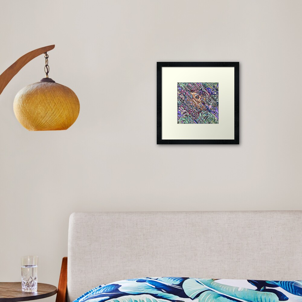 Abstract Melted Colors Framed Art Print