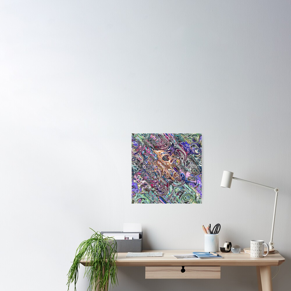Abstract Melted Colors Poster