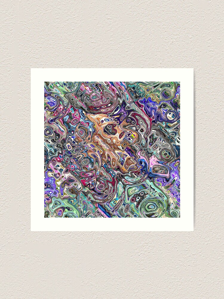 Alternate view of Abstract Melted Colors Art Print