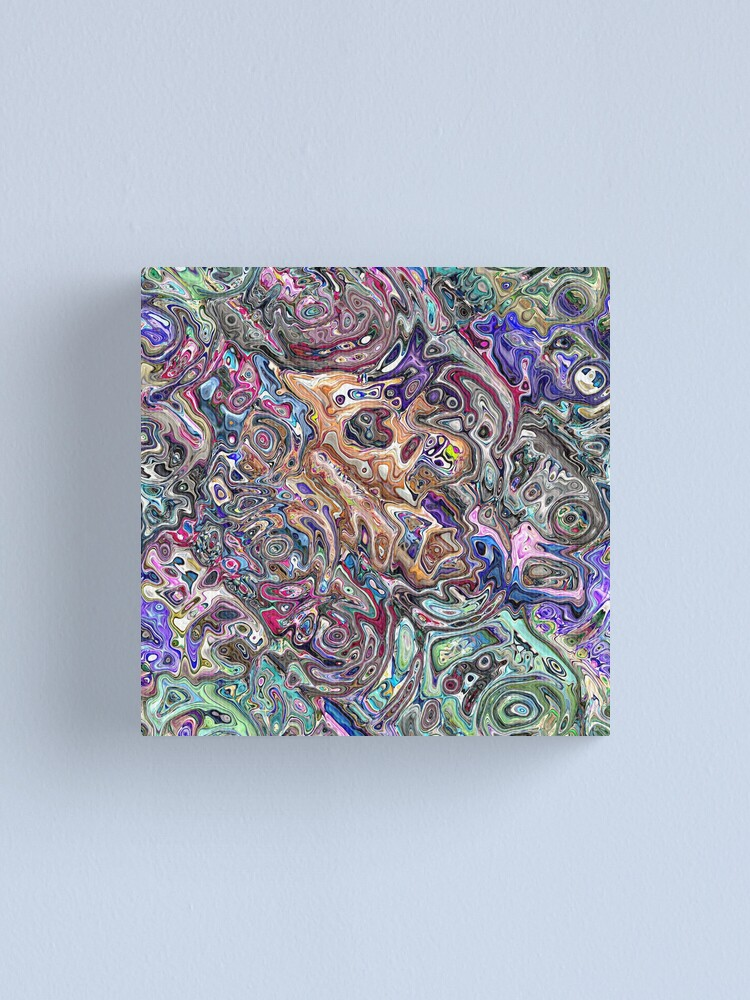 Alternate view of Abstract Melted Colors Canvas Print