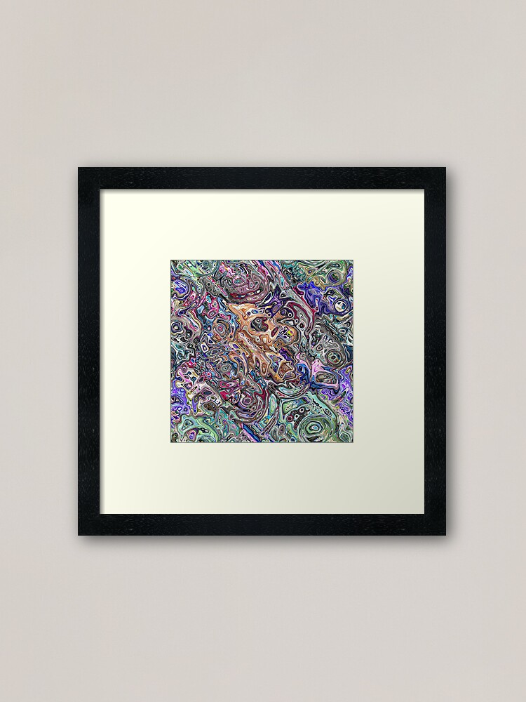 Alternate view of Abstract Melted Colors Framed Art Print