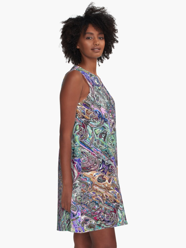 Alternate view of Abstract Melted Colors A-Line Dress