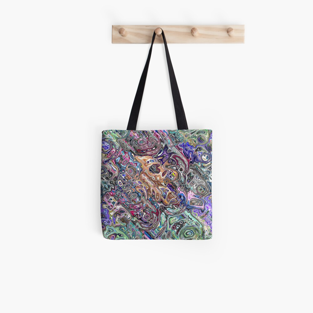 Abstract Melted Colors Tote Bag
