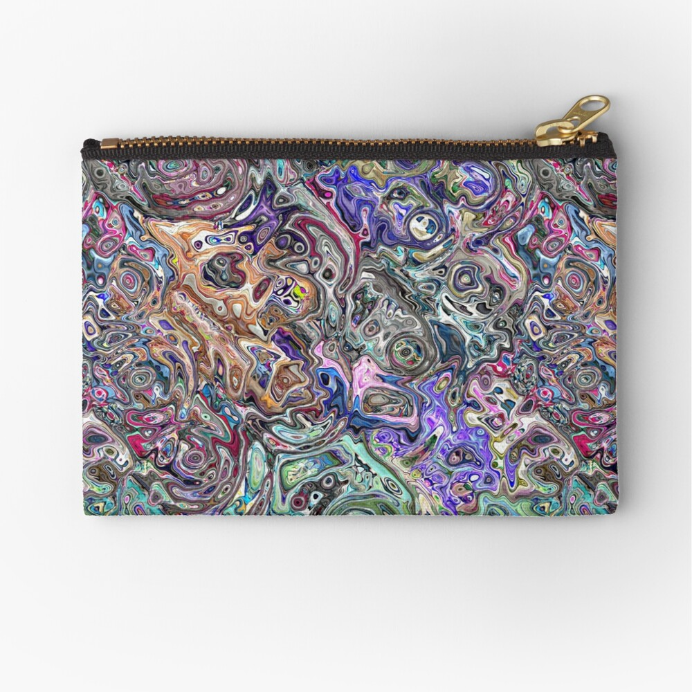Abstract Melted Colors Zipper Pouch