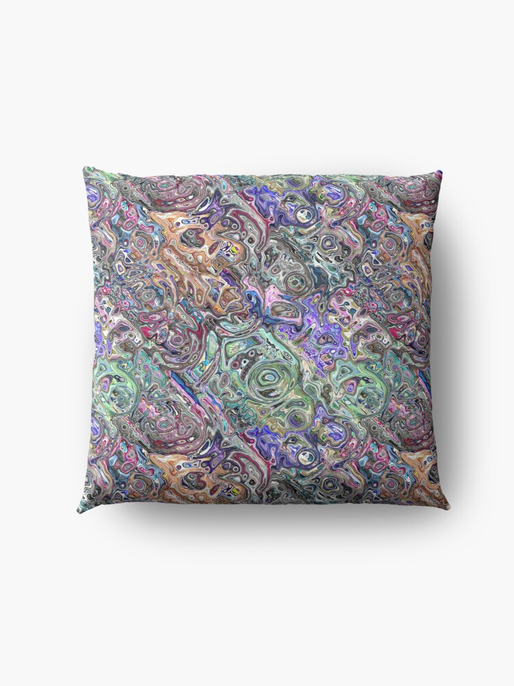 Alternate view of Abstract Melted Colors Floor Pillow
