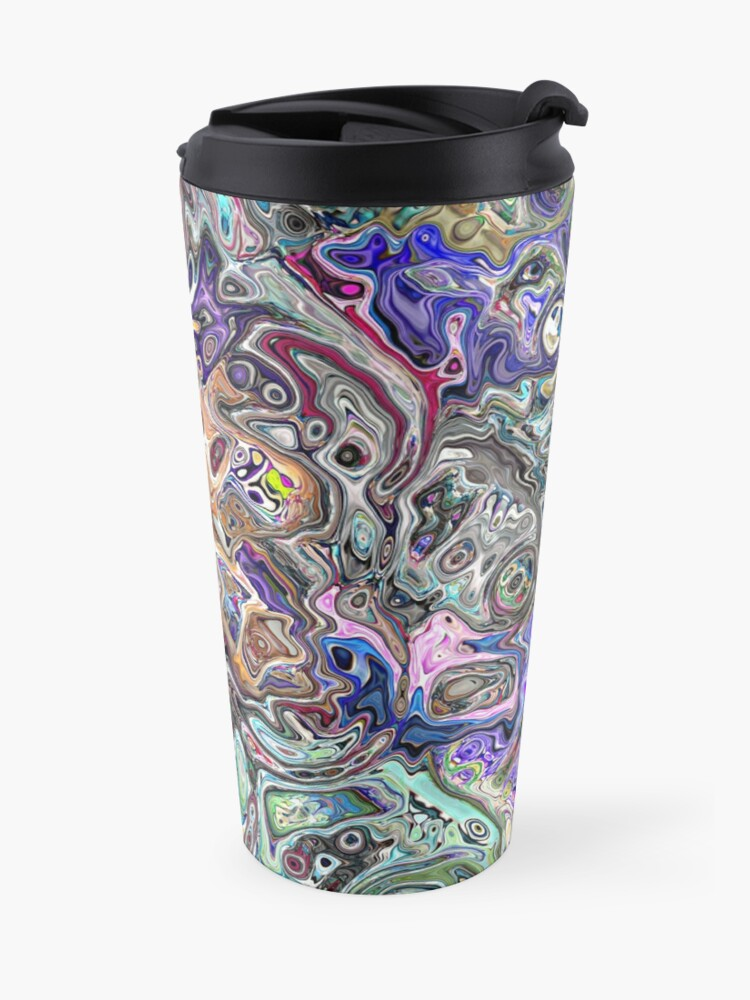 Alternate view of Abstract Melted Colors Travel Mug