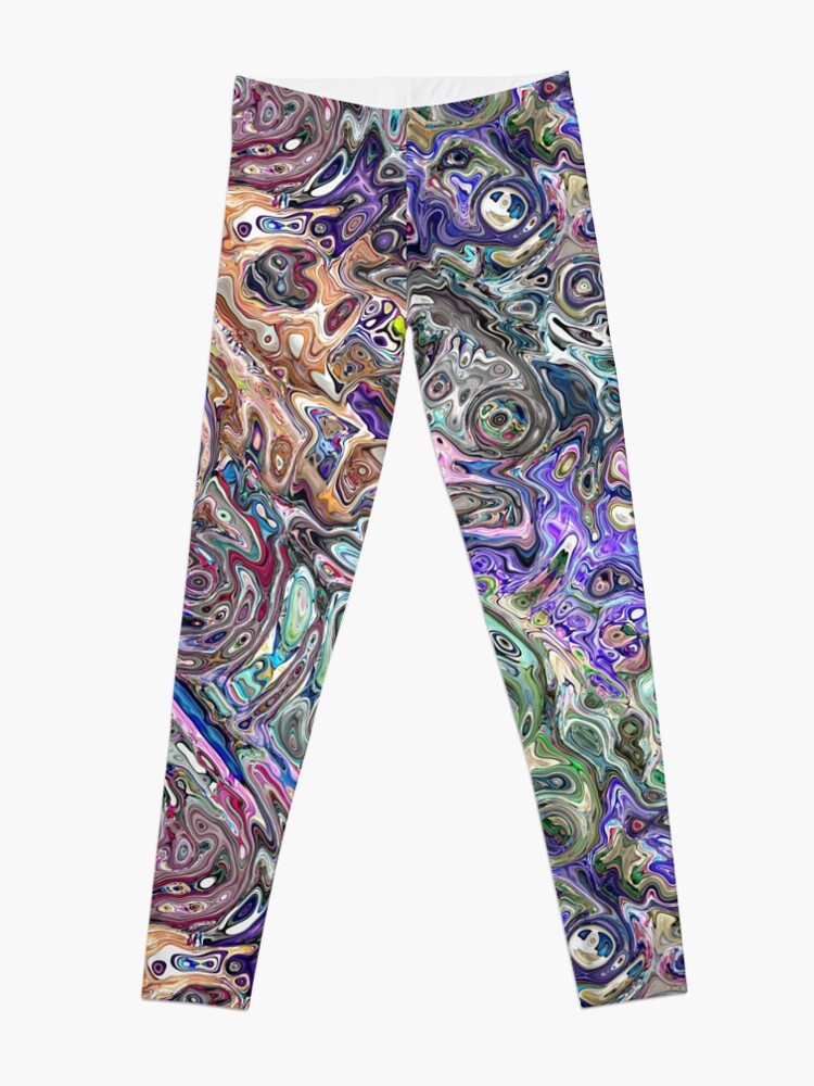 Alternate view of Abstract Melted Colors Leggings