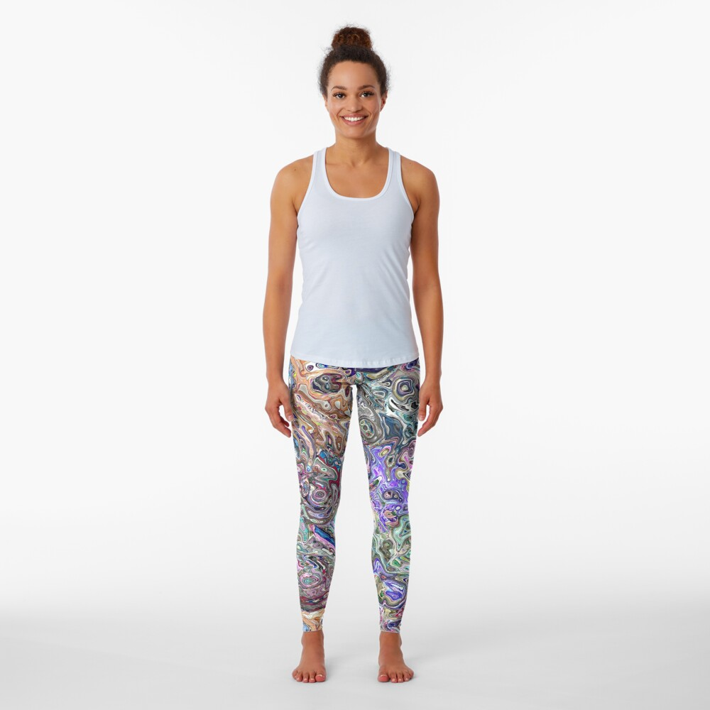 Abstract Melted Colors Leggings