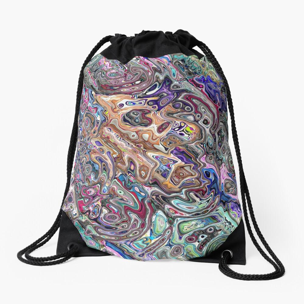 Abstract Melted Colors Drawstring Bag