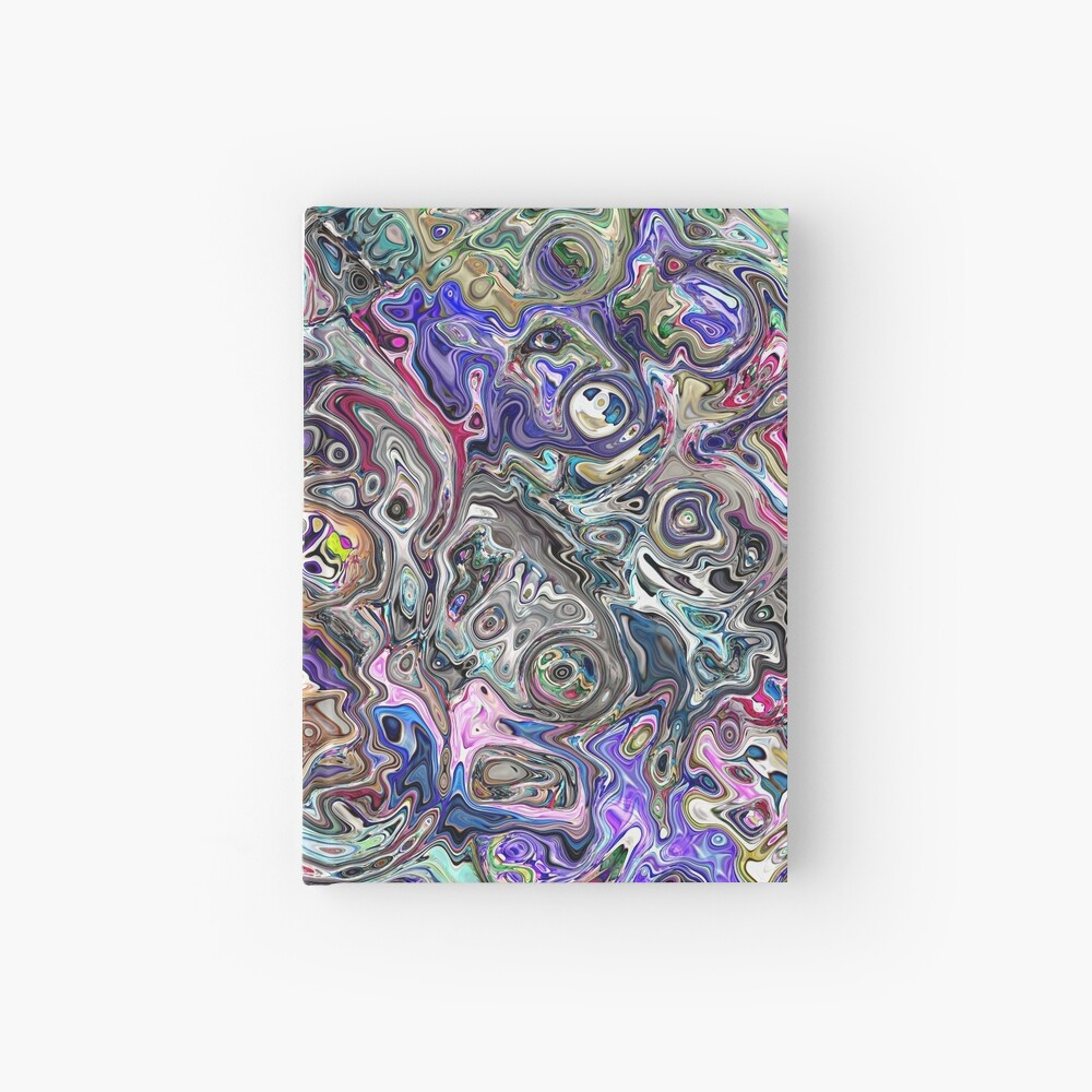 Abstract Melted Colors Hardcover Journal
