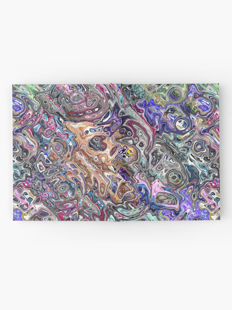 Alternate view of Abstract Melted Colors Hardcover Journal