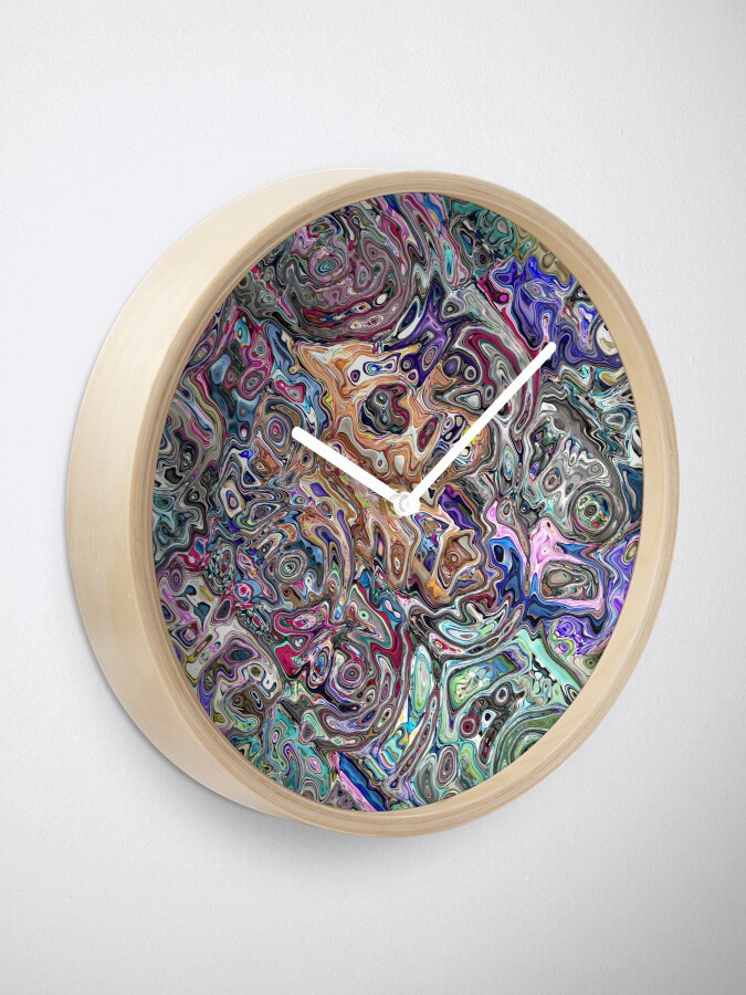 Alternate view of Abstract Melted Colors Clock